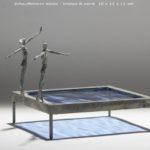 Echauffement mixte /bronze et verre