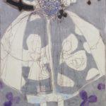 Blue /gouache-crayon /papier ciré 100x70cm