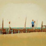 Provincetown pier /huile sur toile 100x120cm