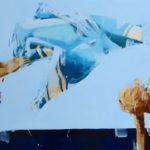 Total blue /huile sur toile 60x120cm