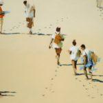 Les petits pas /huile sur toile 73x116cm