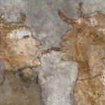 Couple faune /tech mixte/papier/bois 31x24cm