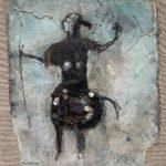 Femme centaure /tech mixte/toile 35x29cm