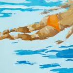 Floating#4 /huile sur toile 60x92cm