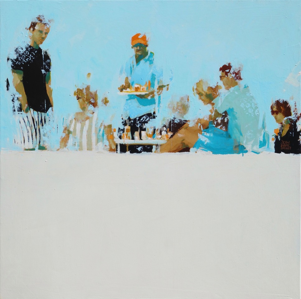Haut de plage /huile sur toile 60x60cm