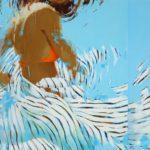 Stripes orange seventeen /huile sur toile 89x116cm