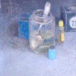 La boîte bleue 1/huile sur toile 35x27cm VENDU