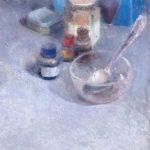 La boîte bleue 2/huile sur toile 35x27cm VENDU