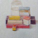 La boîte jaune II /huile sur toile 41x33cm