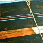 Amarrage /acrylique sur toile 80x80cm