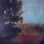 Au loin le chemin des hérons /photographie et pigments, encre 100x100cm