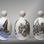 Balise HENRI DE MONFREID Djibouti /céramique peinte H55cm env.