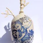 BALISE LA HAVANE (Cuba) /céramique peinte et émaillée H58cm