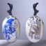 Balise MARANHAO (Amazonie) /céramique peinte et émaillée /bois H61cm