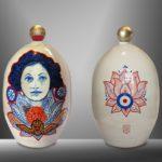 Balise MOSCOU - RUSSIE/céramique peinte à la main, pièce unique