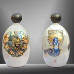 Balise TURTLE ISLAND - HAITI /céramique peinte à la main, pièce unique