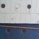 Blanc bleu /acrylique sur toile 100x100cm