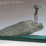 Blasphème 3 /bronze et verre