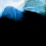 Blue mountain /acrylique sur bois 30x20cm