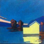 Blue hour /huile sur toile 30x30cm