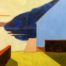 Blue wall /huile sur toile 40x43cm