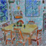 With small plants on the table /HST 25x25cm