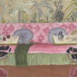 Chez MADAME /feutre sur papier aquarelle 27x17cm