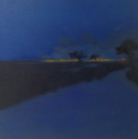Cohle and Hart /huile sur toile 80x80cm