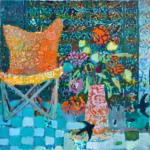 Stilleben and birds /huile sur toile 80x80cm