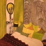 Chambre avec vue /feutre sur papier aquarelle 27x17cm