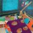 Chez Ona /feutre sur papier aquarelle 17x27cm
