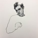 Cigarette 2 /dessin pastel 40x40cm