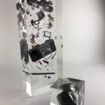 Cliché Canon /cristal de synthèse 50x20x10cm