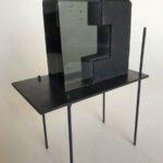 Construction /verre et acier L15 H20cm