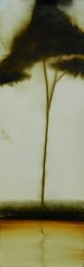 Silhouette N°20 /huile sur toile 30x90 cm