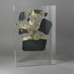 Black block /cristal de synthèse 25x17x10cm