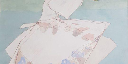 Souris, Vertes Absinthes /tech mixte sur toile 73x60cm