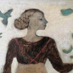 Détail femme aux oiseaux 1