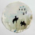 Don Quichotte /tech mixte sur papier diam 38cm