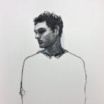 En aparté / dessin pastel 38x38cm