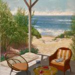 Fauteuil Soleil /huile sur toile 92x73cm