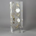Gousset triple cadrans /cristal de synthèse 30x10x10cm