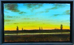 La rivière jaune /huile sur toile 24x42cm
