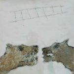 Cerbères /tech mixte/toile 20x20cm