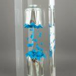 Spray bleu /cristal de synthèse 40x12x12cm