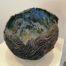 Calebasse bleue /grès émaillé diam 28 cm
