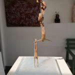 Oubli(variante)/bronze et verre 20x20xH38cm