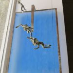 Déferlantes /bronze et verre 40X28X23cm