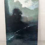 Aube /acrylique sur bois 29x19cm