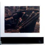 Woodgate /tech mixte (photo, acryl, pigments..) sur bois /85x85cm